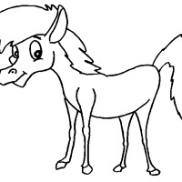horse baby coloring page