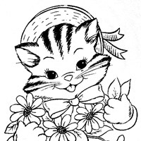 kitten coloring coloring page