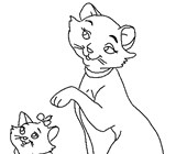 aristocats coloring page coloring page