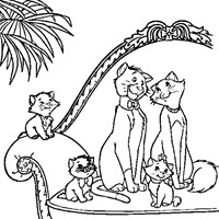 aristocats coloring sheet coloring page