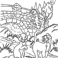aristocats coloring coloring page