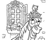 aristocats horse coloring page