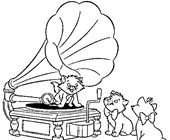 aristocats music coloring page