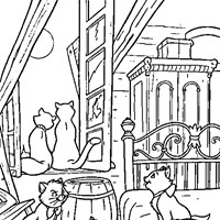 aristocats coloring page