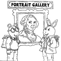 arthur gallery coloring page