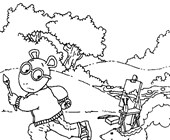 color arthur coloring page