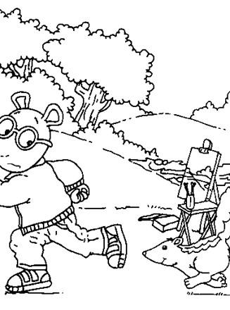 Arthur Coloring Page Color Arthur All Kids Network