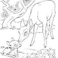 bambi baby coloring page