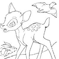 bambi coloring page coloring page