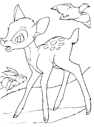 Bambi Coloring Page Bambi Coloring Page All Kids Network