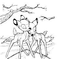 bambi love coloring page