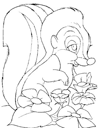 bambi printable coloring page