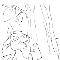 bambi rabbit coloring page