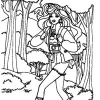 barbie coloring coloring page
