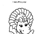 baby bop coloring page coloring page