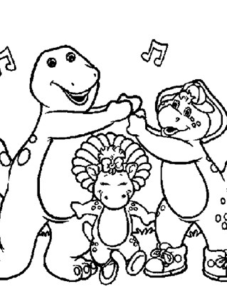 barney music coloring page