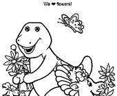 coloring barney coloring page