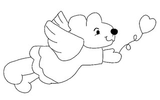 angel bear coloring page