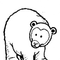 bear coloring page coloring page
