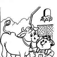 bear cow coloring page