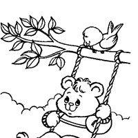 bear swing coloring page