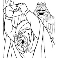 beauty and the beast angry coloring page
