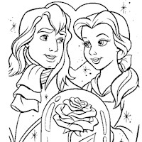 beauty and the beast coloring page coloring page