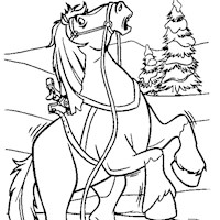 beauty and the beast horse coloring page