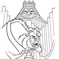 beauty and the beast organ coloring page