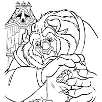 beauty and the beast presant coloring page