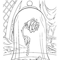 beauty beast rose coloring page