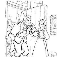 beautyandthebeast coloring page