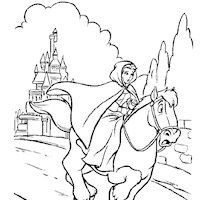 riding horse coloring page