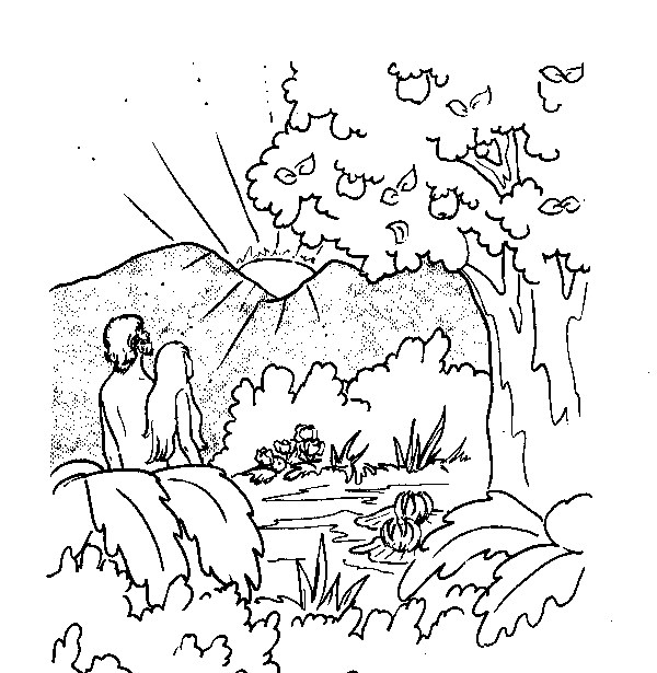 Coloring Page Adam Eve All Kids Network