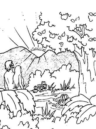 Bible Coloring Page - adam eve | All Kids Network