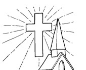 church coloring page coloring page