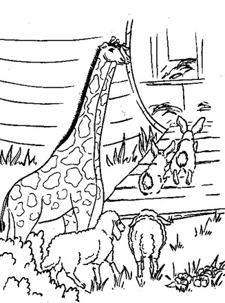 Bible Coloring Page - noahs ark coloring page | All Kids Network