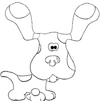blues clues 1a coloring page