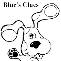 blues clues 5a coloring page