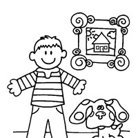 blues clues 8a coloring page