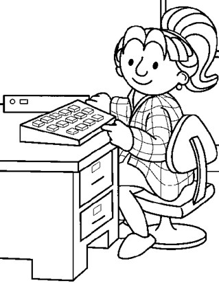 bob builder office coloring page