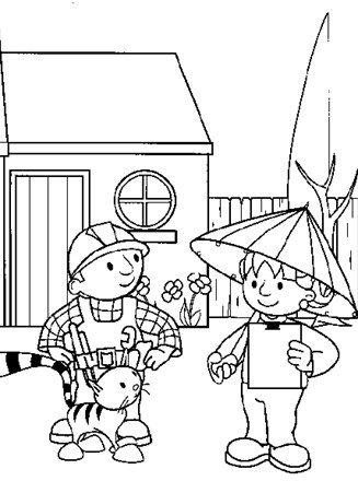 Bob The Builder Coloring Page Bob Builder All Kids Network