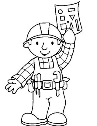 bob the builder coloring page coloring page