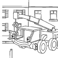 bob the builder crane coloring page