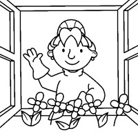 bob the builder flowers coloring page