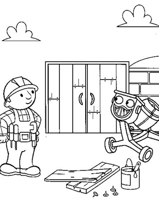 bobbuilder cement coloring page