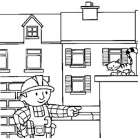 color bob builder coloring page