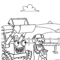color bob the builder coloring page