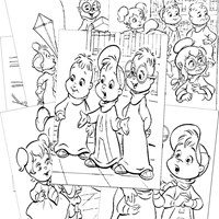 Chipmunks Coloring Pages