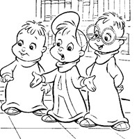 chipmunks coloring page - girl chipmunks | all kids network - Theodore Chipmunk Coloring Pages